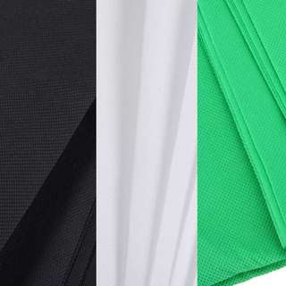 white black green non woven fabric 3x6m backdrop cloth only rolled not folded COD