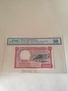Malaya & British Borneo $10 With Big A