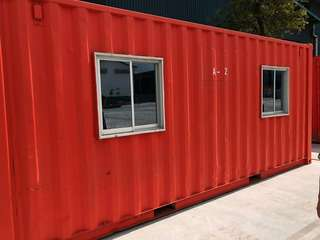 Container office and shipping containers