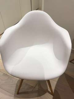 White Eames replica dining chair x 4