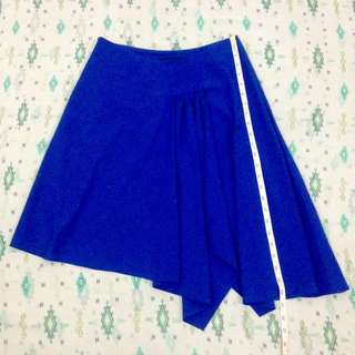 SKIRT: Blue assymetrical
