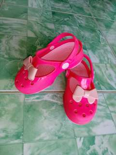 Pink Crocs for kids