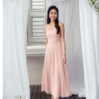 Seas the moment pleated tulle dress ( blush pink)- thread theory