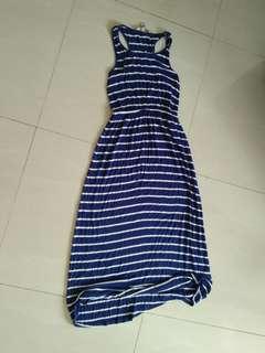 Pre loved long dress stripped