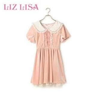 🎯Liz Lisa velvet dress
