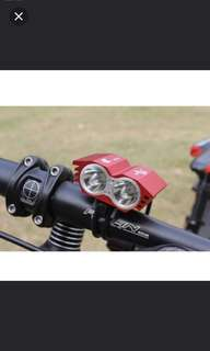 Owl Twin LED+Rechargeable CREE XML U2 LED Bicycle bike HeadLight Headlamp Light