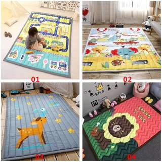 Baby Play Mat 2CM Thick Children Carpet 140x195CM Tatami Rug Machine Washable
