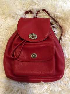 Coach red mini backpack