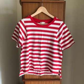 🚚 紅白條紋上衣