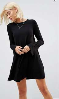 *FLASH SALE* ASOS Mini Swing Dress with trumpet Sleeves