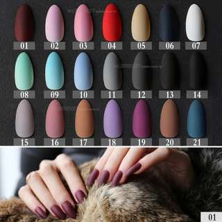 ORDER-New Matte False Short Pointed Soft Pink Nude Red Black Blue fake stiletto nails full cover Pure colour candy Purple Khaki White