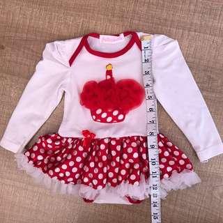 Cupcake red tutu dress 0-6m