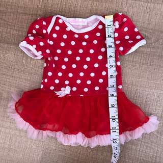 Red polka dots 0-6m