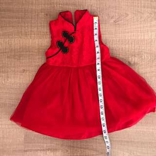 Red Cheongsam tutu dress 2y