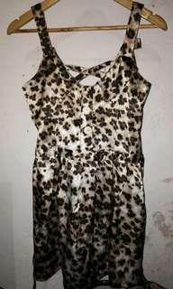 Silk animal printed dress