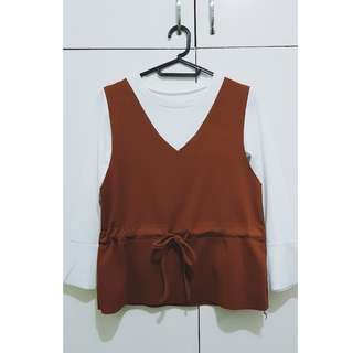 Korean Style Top Set (Brown)