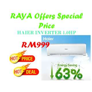 HAIER, YORK, DAIKIN, PANASONIC AIRCOND Special Day Offers
