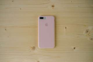 Apple silicone case (pink sand)