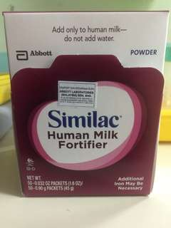 Similac human milk fortifier for prematured/underweight babies