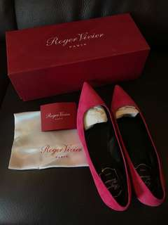 100% New Roger Vivier Suede Flat (size 38)