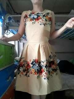 Floral nude dress