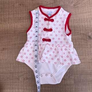Baby cheongsam romper 6-12m