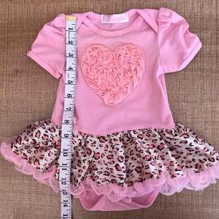 0-6m tutu pink love