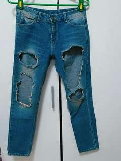 🚚 潮流時尚牛仔破褲