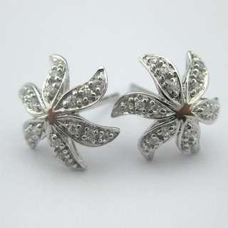 15份高碳鑽純銀耳環 CZ Earring