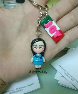 Chibi with Nameplate keychain