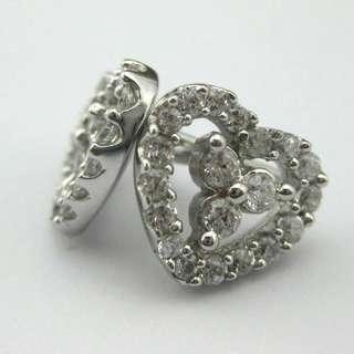 56份高碳鑽純銀耳環 CZ Earring