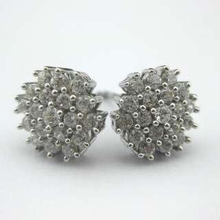 61份高碳鑽純銀耳環 CZ Earring