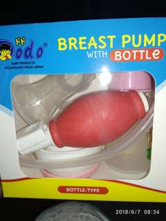 Dodo manual breast pump with bottle