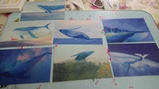 鯨魚明信片