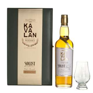 Kavalan Solist ex-Bourbon  Single Cask Strength 禮盒裝連杯 威士忌 台灣