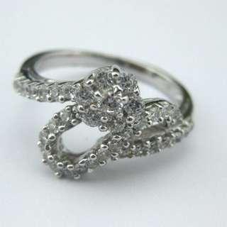 66份高碳鑽純銀戒指