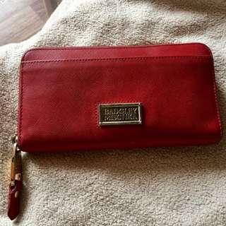 Badgley Mischka red saffiano leather wallet ✨