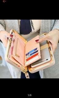 Women Bowknot Wallet Long Purse Phone Card