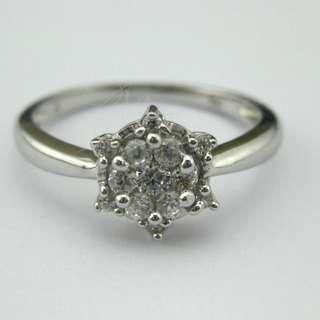 25份高碳鑽純銀戒指
