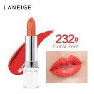 Laneige Mini Silk Intense Lipstick (232 Coral Reef) - (1.2g/0.04oz)