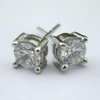 92份高碳鑽純銀耳環 CZ Earring