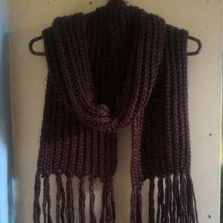 """""""CMG"""" brown scarf"""