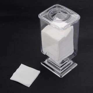(472)1x Clear Acrylic Makeup Cotton Pads Box Case Holder Organizer Swab Storage