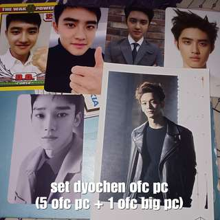 SET DO KYUNGSOO DYO D.O and Chen OFFICIAL PHOTOCARD ONLY NO DAMAGE