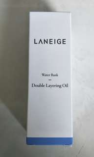 Brand New Laneige Water Bank Double Layering Oil 50ml