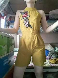 Yellow patch romper