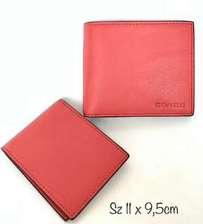 Coach Compact ID Wallet Coral