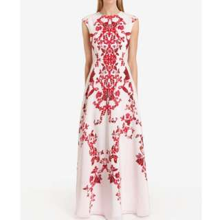 Ted Baker inspired Boho bohemian red printed long maxi dress gown Summer Sleeveless Evening Party Cocktail
