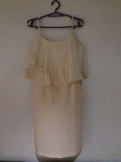 jellybean cream dress