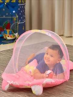 Baby mosquito net with music-pink